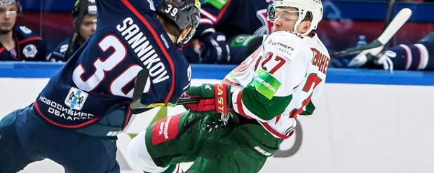 «Ак Барс» в овертайме оказался сильнее «Сибири» в Новосибирске