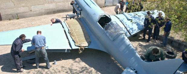 В Новосибирске снова поднялся в воздух, сбитый в 1941 году самолет