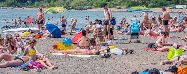 В Новосибирске можно купаться, температура позволяет!